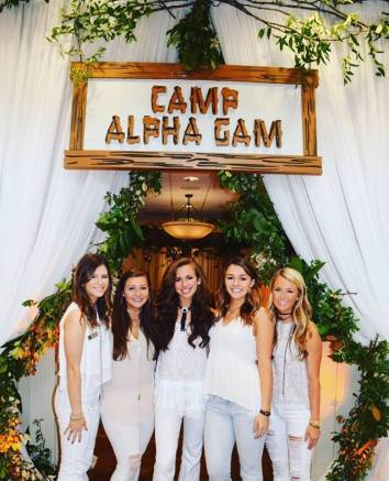 Sisterhood day theme--Camp Alpha Gam!